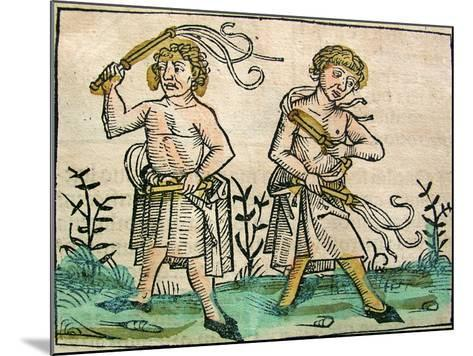 Flagellants, Published in the Nuremberg Chronicle, 1493--Mounted Giclee Print