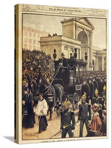 The Funeral of Giuseppe Verdi, Milan, 10th February 1901--Stretched Canvas Print