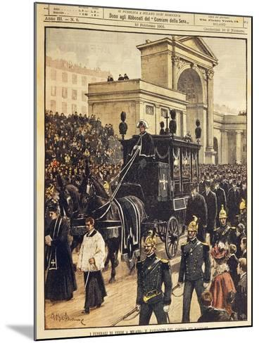 The Funeral of Giuseppe Verdi, Milan, 10th February 1901--Mounted Giclee Print