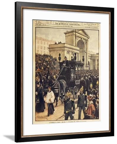 The Funeral of Giuseppe Verdi, Milan, 10th February 1901--Framed Art Print