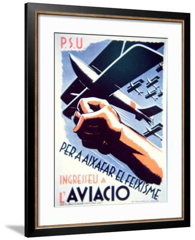 To Defeat Fascism Join the Air Force', Republican Poster, 1937--Framed Art Print