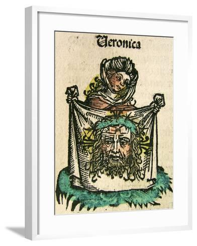 The Veil of Veronica, Published in the Nuremberg Chronicle, 1493--Framed Art Print