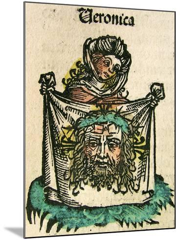 The Veil of Veronica, Published in the Nuremberg Chronicle, 1493--Mounted Giclee Print