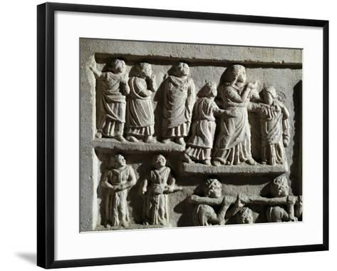 Detail from Marble Relief Depicting Funeral Cortege, from Arniternuni--Framed Art Print