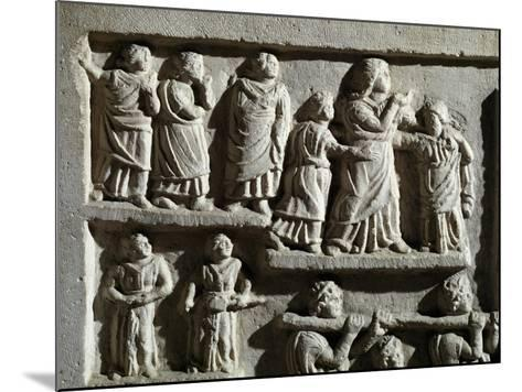Detail from Marble Relief Depicting Funeral Cortege, from Arniternuni--Mounted Giclee Print