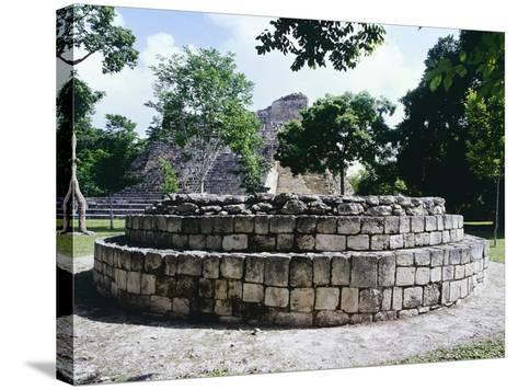 The Circular Altar in Area a in the Ancient Mayan City of Becan--Stretched Canvas Print