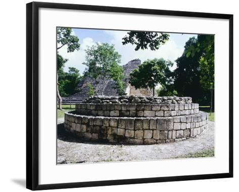 The Circular Altar in Area a in the Ancient Mayan City of Becan--Framed Art Print