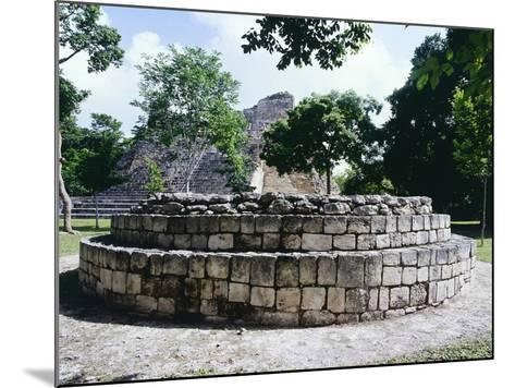 The Circular Altar in Area a in the Ancient Mayan City of Becan--Mounted Giclee Print