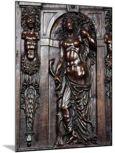 Decoration on Carved Walnut Sideboard--Mounted Giclee Print