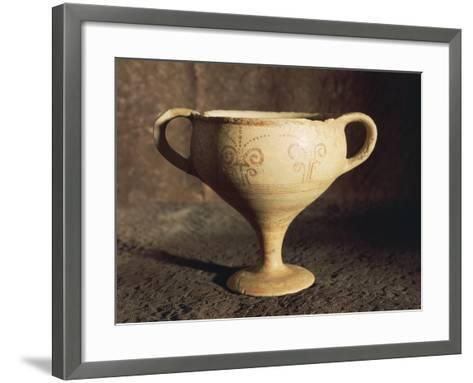 Mycenaean Terracotta Cup from Tomb at Thapsos, Magnisi Peninsula--Framed Art Print