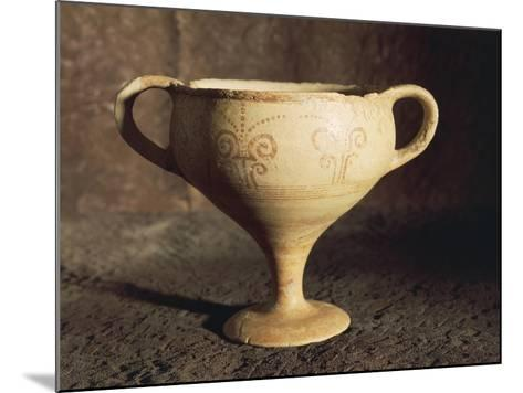 Mycenaean Terracotta Cup from Tomb at Thapsos, Magnisi Peninsula--Mounted Giclee Print