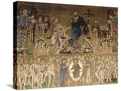 The Last Judgement, Detail of Christ Judging, 11-12th Century--Stretched Canvas Print