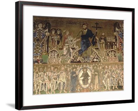 The Last Judgement, Detail of Christ Judging, 11-12th Century--Framed Art Print