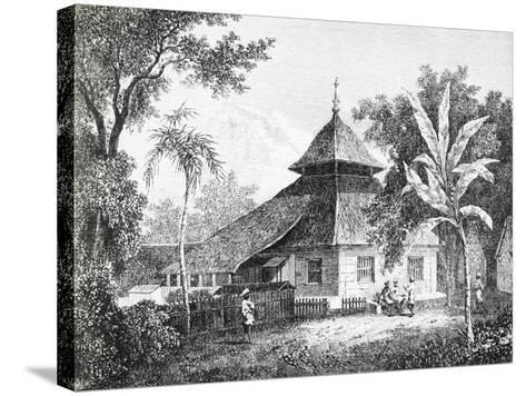 Mosque in Ambon, Capital of Maluku, from Alfred Russel Wallace'S--Stretched Canvas Print