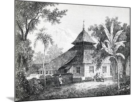 Mosque in Ambon, Capital of Maluku, from Alfred Russel Wallace'S--Mounted Giclee Print
