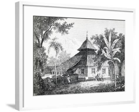 Mosque in Ambon, Capital of Maluku, from Alfred Russel Wallace'S--Framed Art Print