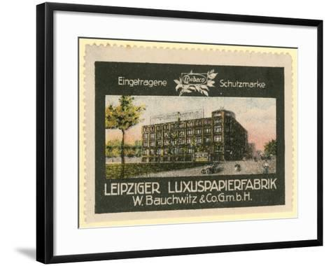 W Bauchwitz and Co Luxury Paper Factory, Leipzig, Germany--Framed Art Print
