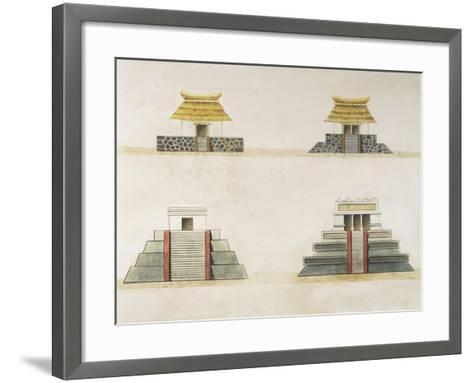 Historical Reconstruction of Buildings in Tenochtitlan--Framed Art Print