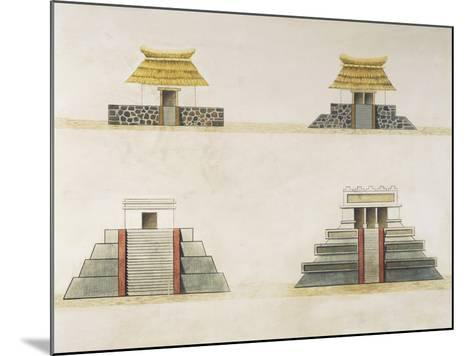 Historical Reconstruction of Buildings in Tenochtitlan--Mounted Giclee Print