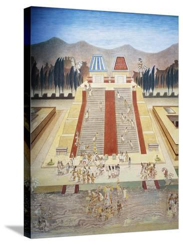 Reconstruction of Consecration Ceremony of the Templo Mayor--Stretched Canvas Print