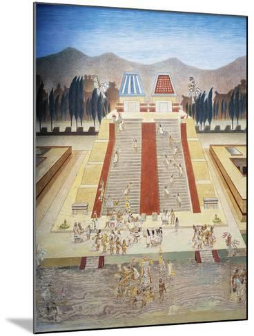Reconstruction of Consecration Ceremony of the Templo Mayor--Mounted Giclee Print