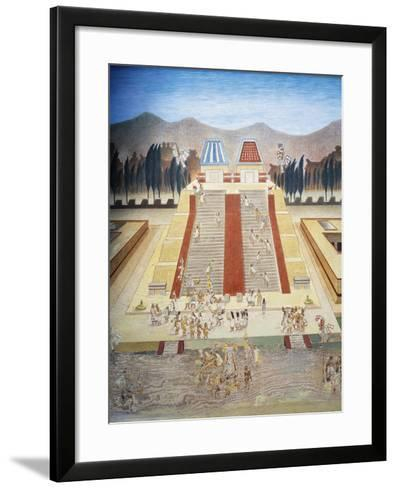 Reconstruction of Consecration Ceremony of the Templo Mayor--Framed Art Print
