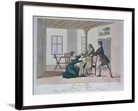 Scene from Poor Poet--Framed Art Print