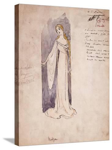Margherita, Costume Sketch Created by Marcel Multzer--Stretched Canvas Print