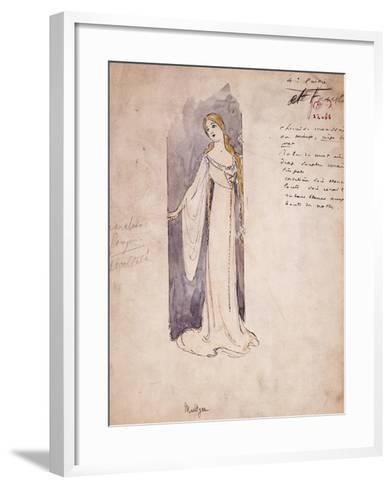 Margherita, Costume Sketch Created by Marcel Multzer--Framed Art Print