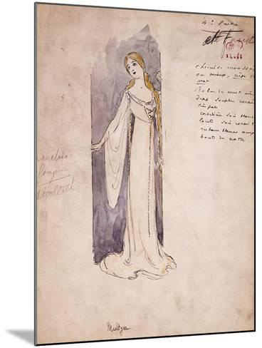 Margherita, Costume Sketch Created by Marcel Multzer--Mounted Giclee Print