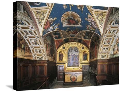 Glimpse of the Audience Hall, Collegio Del Cambio--Stretched Canvas Print