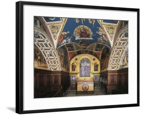Glimpse of the Audience Hall, Collegio Del Cambio--Framed Art Print