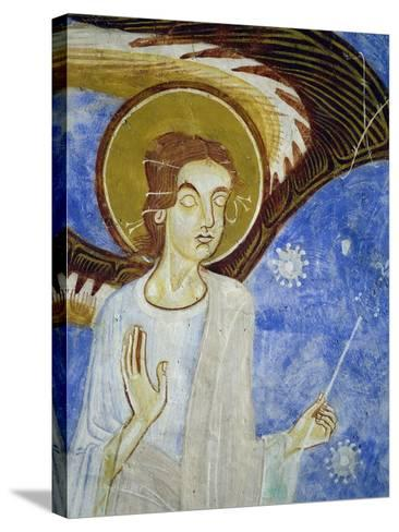 Angel, North Figure, Detail of Western Arm of Frescoed Stone Cross--Stretched Canvas Print