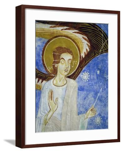 Angel, North Figure, Detail of Western Arm of Frescoed Stone Cross--Framed Art Print