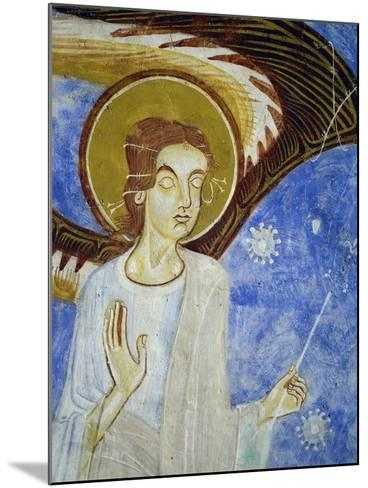Angel, North Figure, Detail of Western Arm of Frescoed Stone Cross--Mounted Giclee Print
