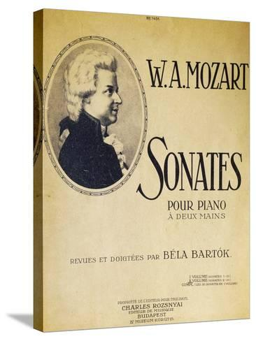 Title Page of Sonatas for Piano for Two Hands--Stretched Canvas Print