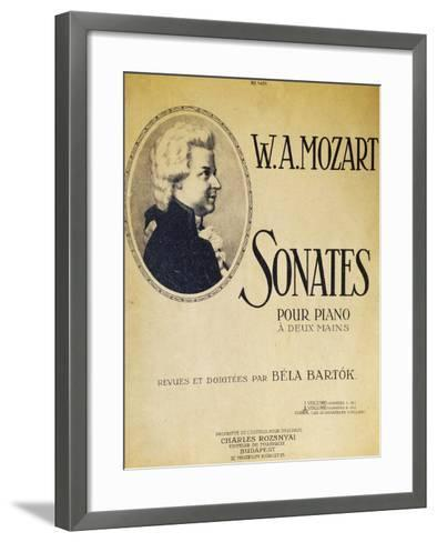 Title Page of Sonatas for Piano for Two Hands--Framed Art Print