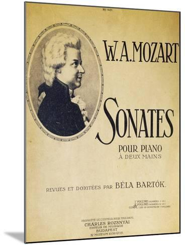 Title Page of Sonatas for Piano for Two Hands--Mounted Giclee Print