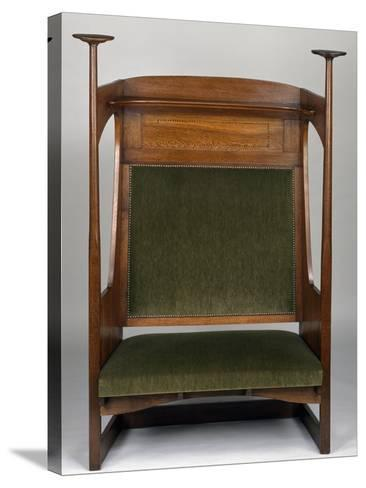 Small Art Nouveau Style Sofa in Charles Rennie Mackintosh Style--Stretched Canvas Print