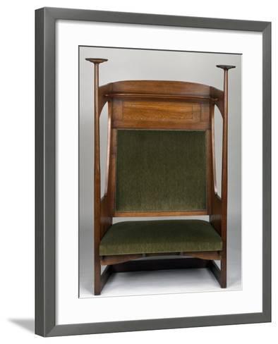Small Art Nouveau Style Sofa in Charles Rennie Mackintosh Style--Framed Art Print