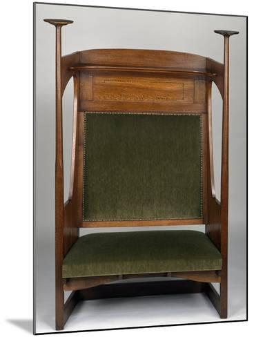 Small Art Nouveau Style Sofa in Charles Rennie Mackintosh Style--Mounted Giclee Print