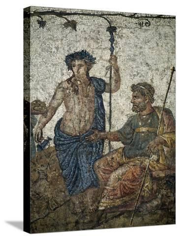 Dionysus Gives Vineyard to King of Attica Ikarios--Stretched Canvas Print
