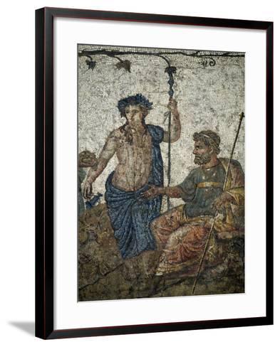 Dionysus Gives Vineyard to King of Attica Ikarios--Framed Art Print