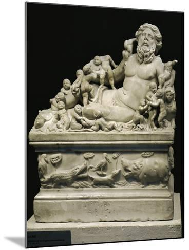 Marble Statue Representing Tiber River, Copy on Smaller Scale of Statue--Mounted Giclee Print