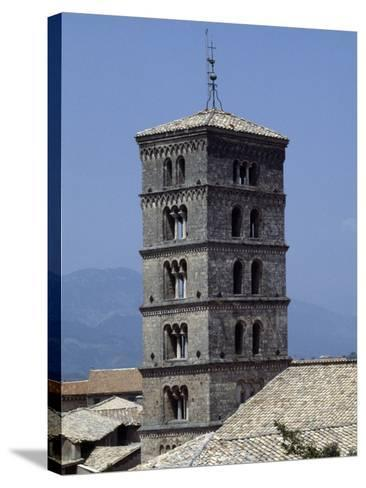 View of the Bell Tower of the Abbey of St Scholastica--Stretched Canvas Print