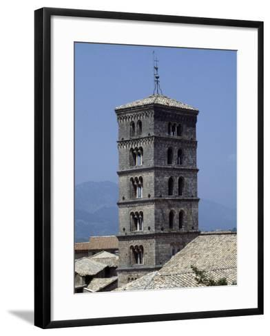 View of the Bell Tower of the Abbey of St Scholastica--Framed Art Print