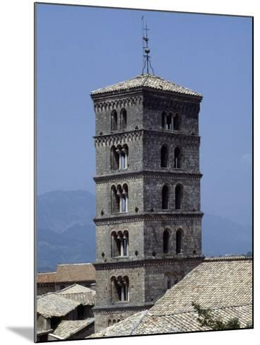 View of the Bell Tower of the Abbey of St Scholastica--Mounted Giclee Print