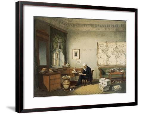 Portrait of Friedrich Heinrich Alexander Von Humboldt--Framed Art Print