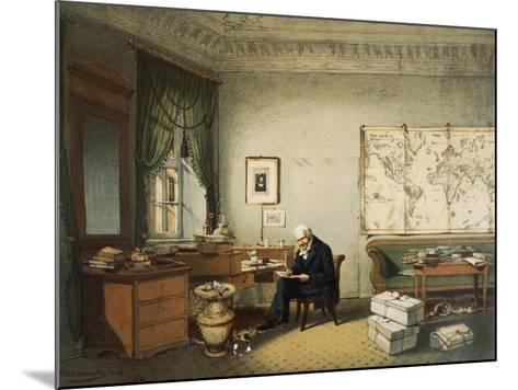 Portrait of Friedrich Heinrich Alexander Von Humboldt--Mounted Giclee Print