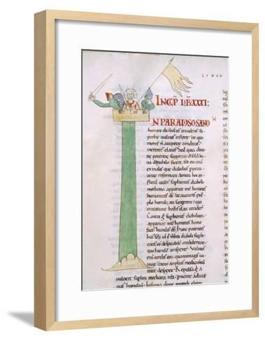 Illuminated Page from the Morals on the Book of Job--Framed Art Print